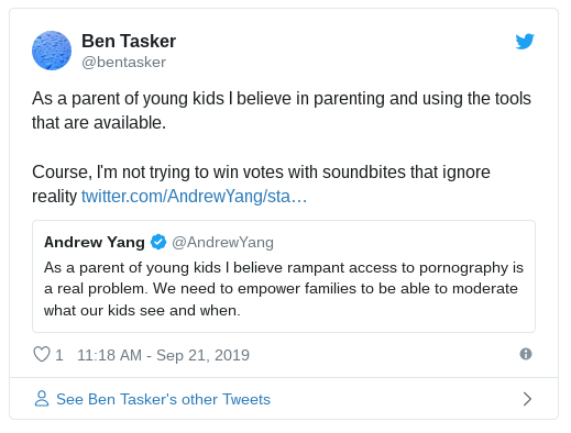 As a parent of young kids I believe in using the tools that are available. Course I'm not trying to win votes with soundbites that ignore reality