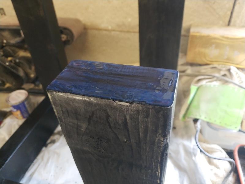 Varnished leg bottoms