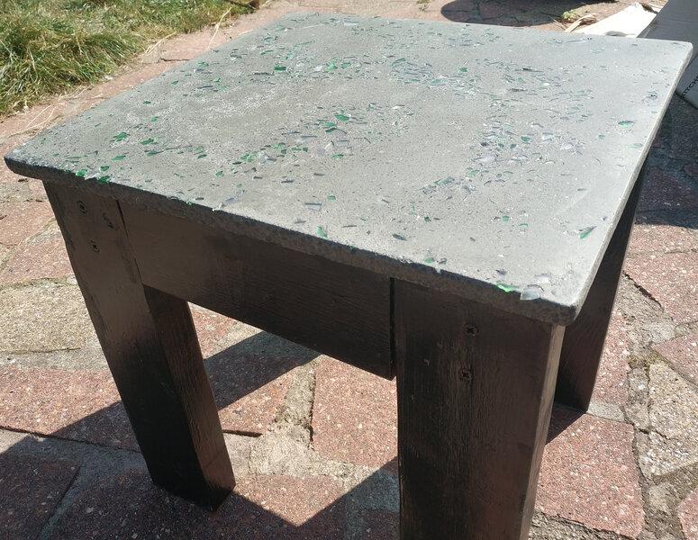 Shiney table top outside