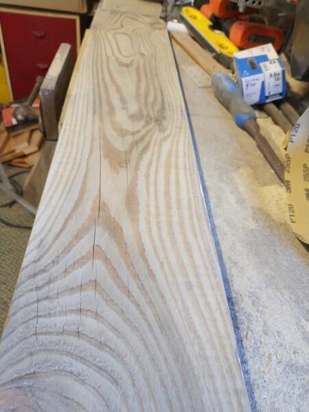 Sanded wood