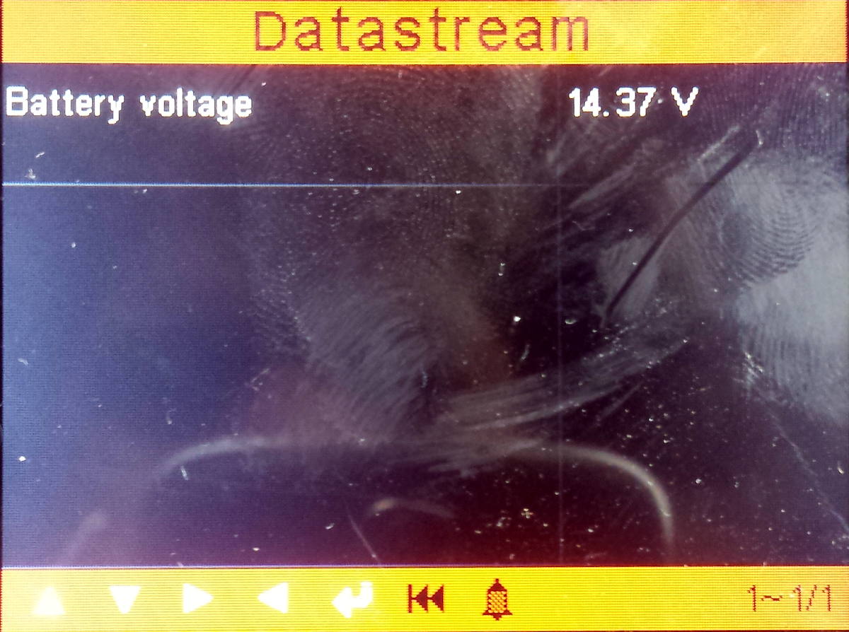 Battery get a charge voltage