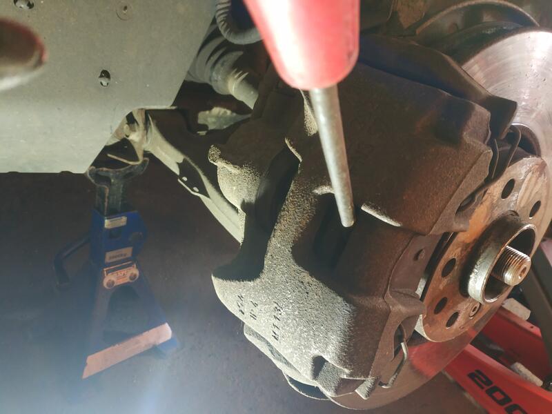 Loosening Saab 93 Brake Caliper