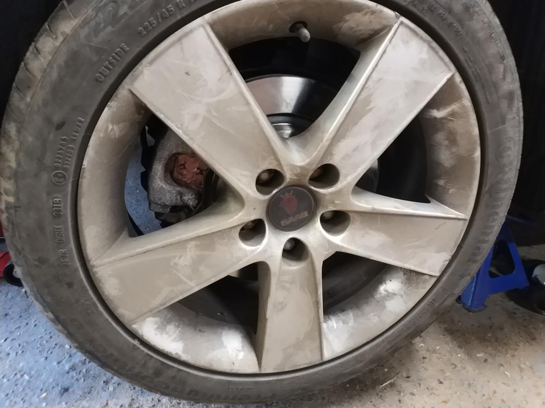 Wheel with new discs and pads