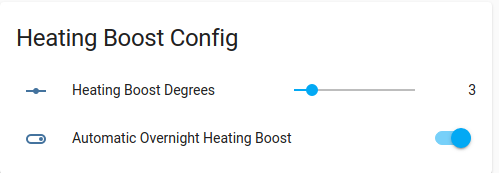 Heating boost control